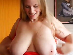 Stocky Teen with Very Big Titties WIth Her New Roommate