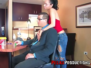 Blind date with voracious Zarah is turned into a really hard analfuck