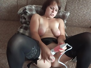 three vibrators and super orgasm!