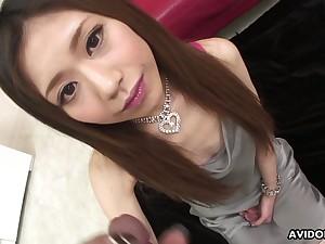 Lusty Japanese blowlerina Aya Sugiura is made to work heavens stiff dicks