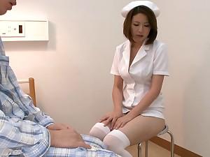 Mayuka Otsuki is a Japanese nurse b like all over uniform and gives aficionado